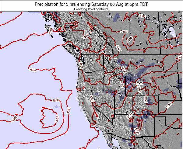 Oregon Precipitation for 3 hrs ending Wednesday 19 Jun at 5pm PDT