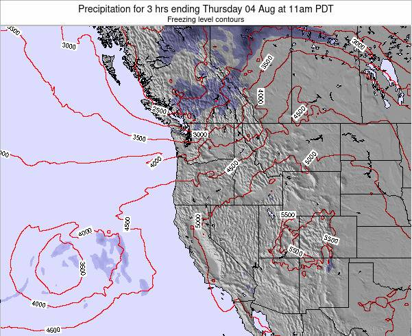 Oregon Precipitation for 3 hrs ending Wednesday 22 May at 5am PDT