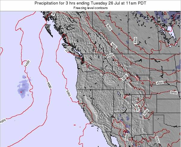 Oregon Precipitation for 3 hrs ending Wednesday 22 May at 11pm PDT