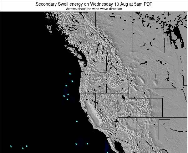 Oregon Secondary Swell energy on Saturday 26 Jul at 11pm PDT