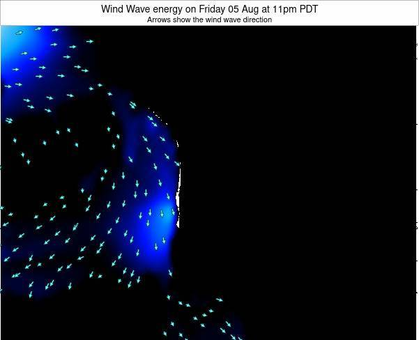 Oregon Wind Wave energy on Saturday 25 May at 11am PDT