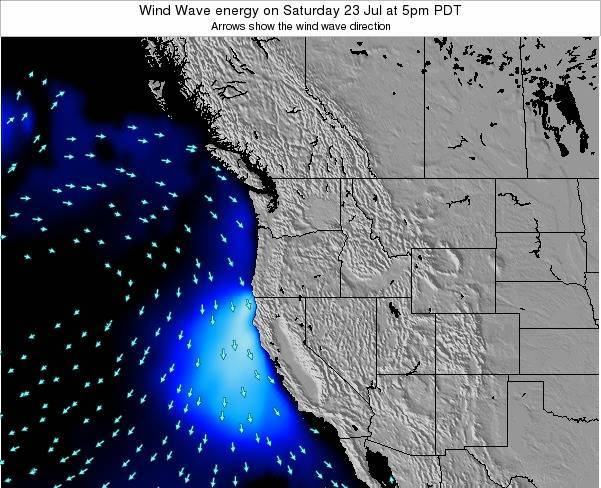 Oregon Wind Wave energy on Saturday 02 Aug at 11am PDT