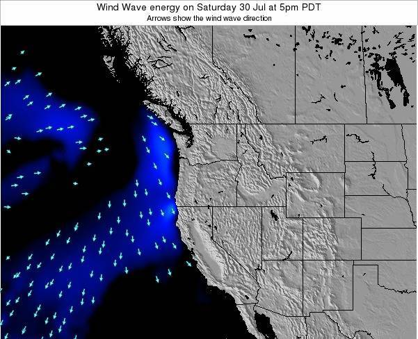 Oregon Wind Wave energy on Monday 27 May at 5am PDT