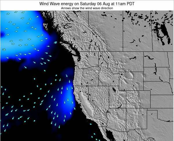 Oregon Wind Wave energy on Friday 01 May at 5am PDT