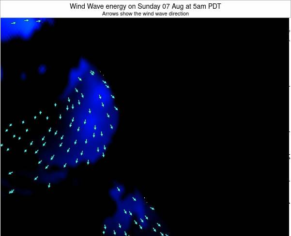 Oregon Wind Wave energy on Saturday 07 May at 5pm PDT