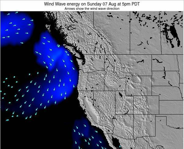 Oregon Wind Wave energy on Thursday 24 Apr at 11pm PDT