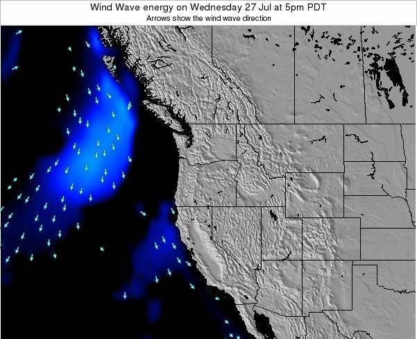 Oregon Wind Wave energy on Saturday 15 Mar at 11am PDT