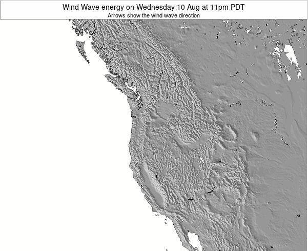 Oregon Wind Wave energy on Wednesday 06 Aug at 5pm PDT