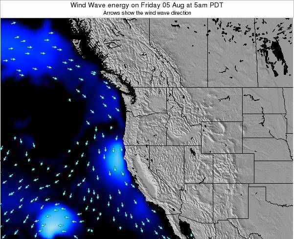 Oregon Wind Wave energy on Wednesday 05 Jul at 5am PDT