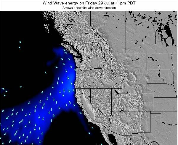 Oregon Wind Wave energy on Friday 08 Aug at 5am PDT