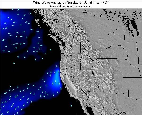 Oregon Wind Wave energy on Friday 25 Apr at 5pm PDT