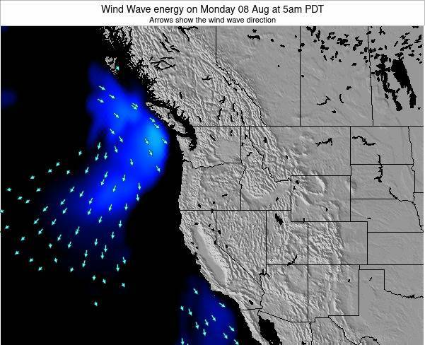 Oregon Wind Wave energy on Sunday 19 May at 11pm PDT