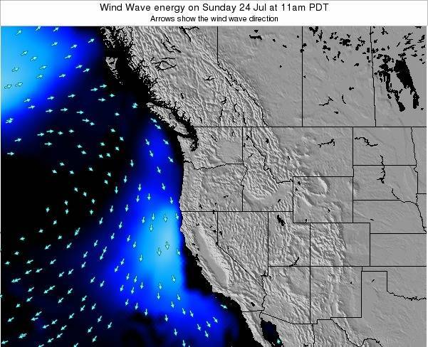Oregon Wind Wave energy on Wednesday 23 Jul at 5am PDT