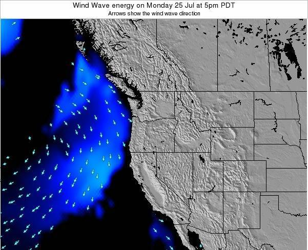 Oregon Wind Wave energy on Wednesday 02 Dec at 4am PST