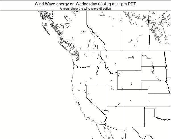 Oregon Wind Wave energy on Saturday 19 Apr at 5am PDT