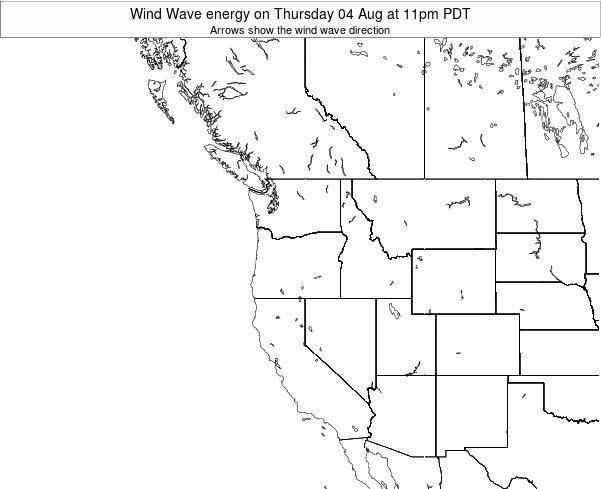 Oregon Wind Wave energy on Thursday 05 Dec at 4pm PST