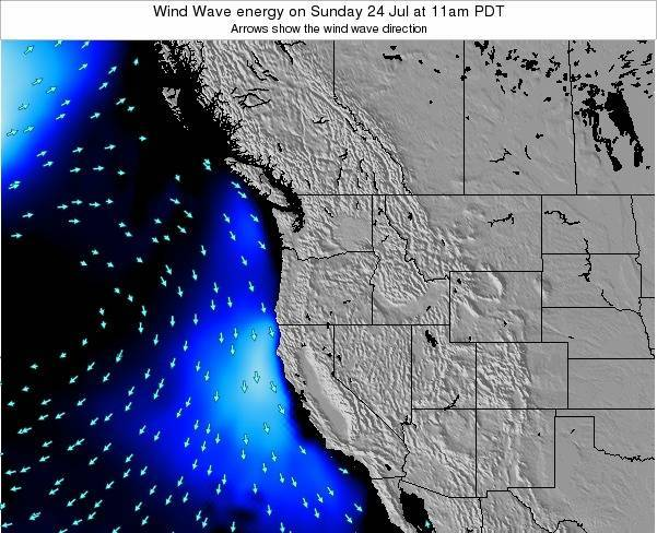 Oregon Wind Wave energy on Friday 01 Aug at 11pm PDT