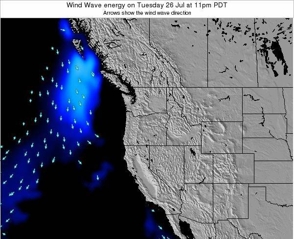 Oregon Wind Wave energy on Friday 14 Mar at 5am PDT