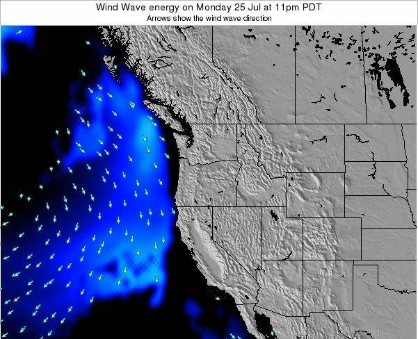 Oregon Wind Wave energy on Friday 25 Jul at 11am PDT