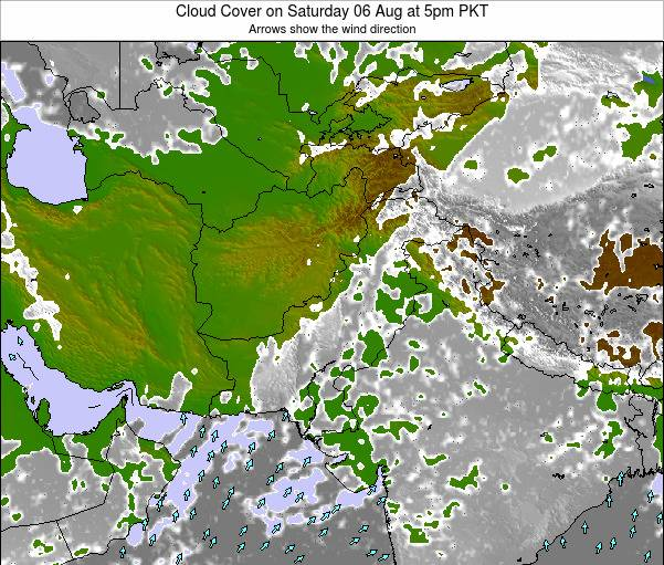 Pakistan Cloud Cover On Sunday 17 Mar At 5pm Pkt