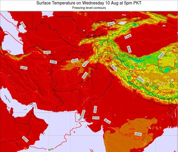 Pakistan Surface Temperature on Wednesday 29 May at 5am PKT