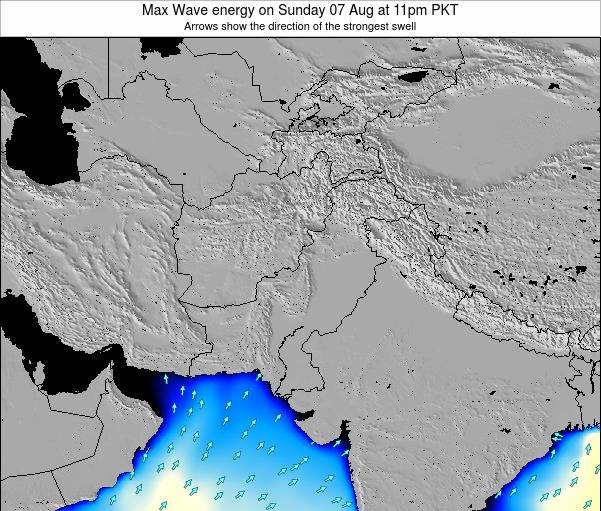 Pakistan Max Wave energy on Saturday 25 May at 11am PKT