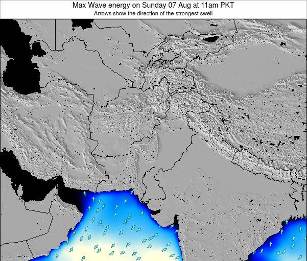 Pakistan Max Wave energy on Tuesday 24 Jan at 5pm PKT