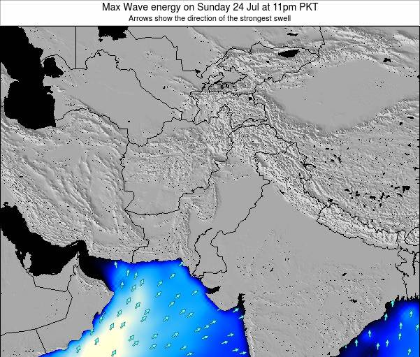 Pakistan Max Wave energy on Sunday 09 Mar at 11am PKT