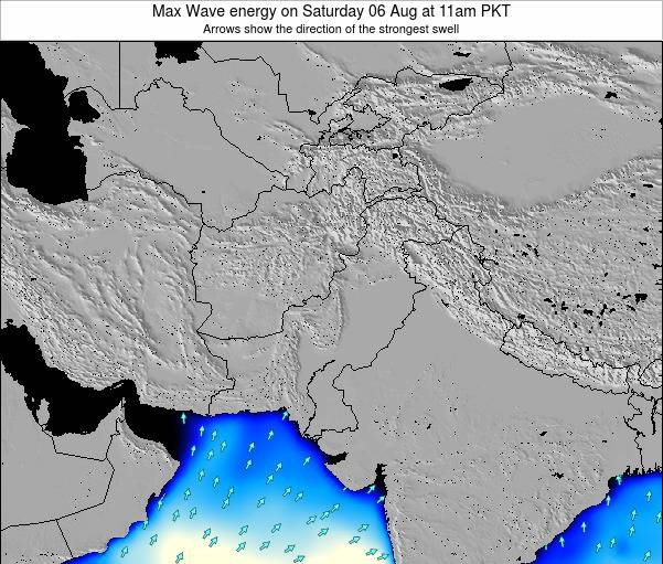 Pakistan Max Wave energy on Thursday 24 Jul at 5am PKT