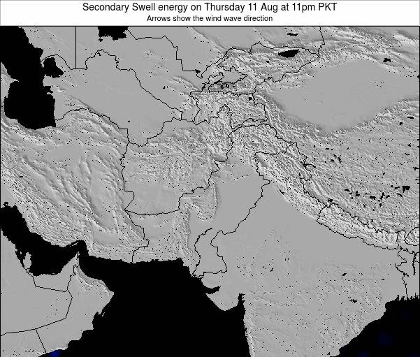 Pakistan Secondary Swell energy on Sunday 27 Jul at 11pm PKT