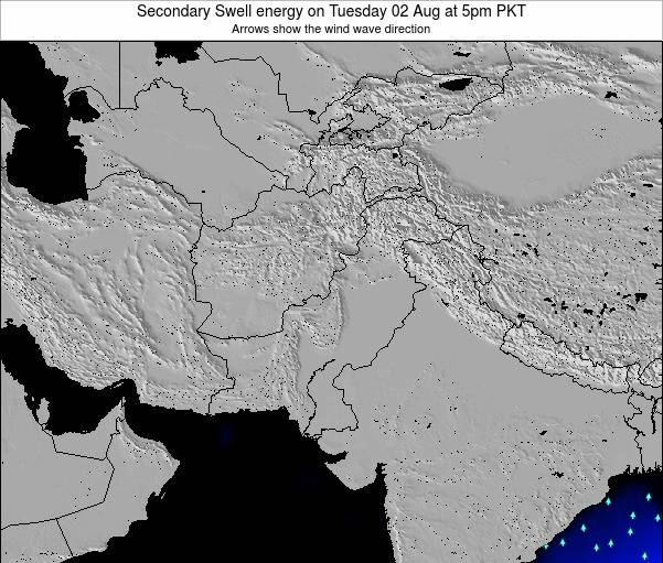 Pakistan Secondary Swell energy on Monday 04 Aug at 5am PKT