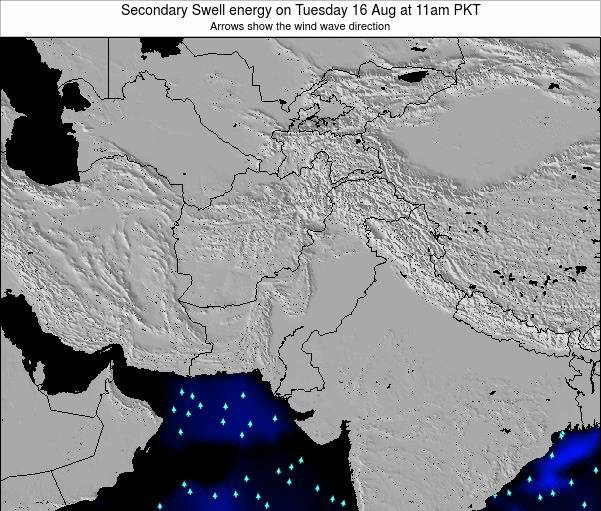 Pakistan Secondary Swell energy on Monday 06 Oct at 5am PKT