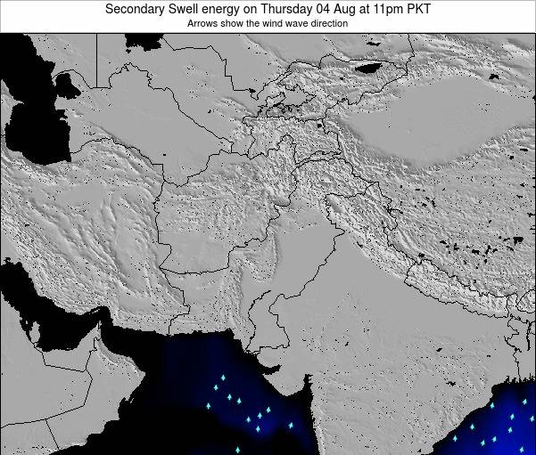 Pakistan Secondary Swell energy on Friday 25 Apr at 5pm PKT
