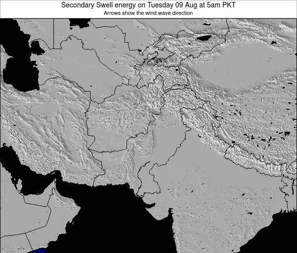 Pakistan Secondary Swell energy on Monday 21 Apr at 11am PKT