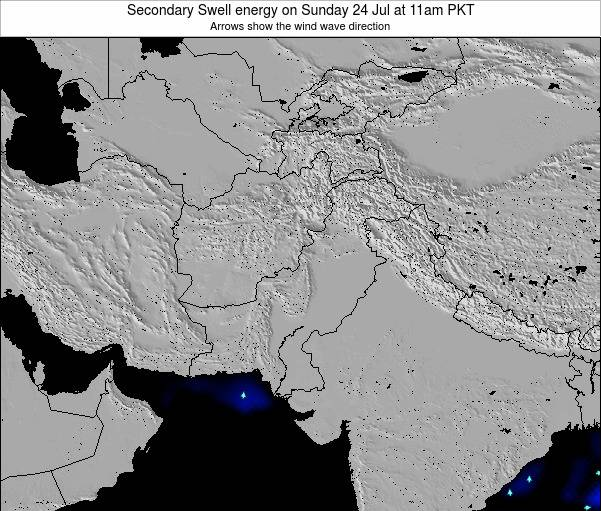 Pakistan Secondary Swell energy on Friday 22 Aug at 11pm PKT
