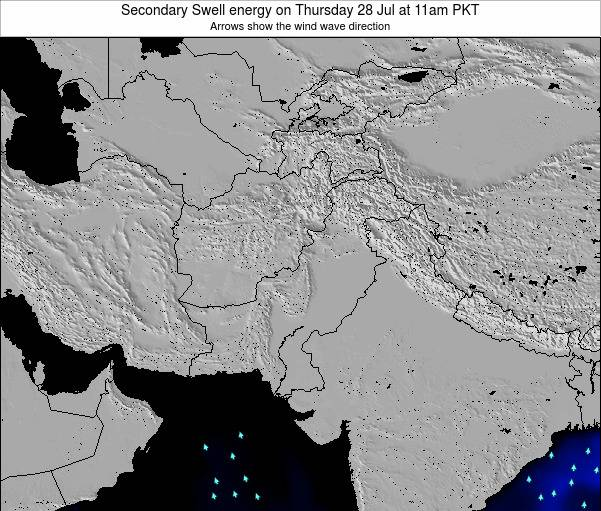 Pakistan Secondary Swell energy on Saturday 26 Apr at 5pm PKT