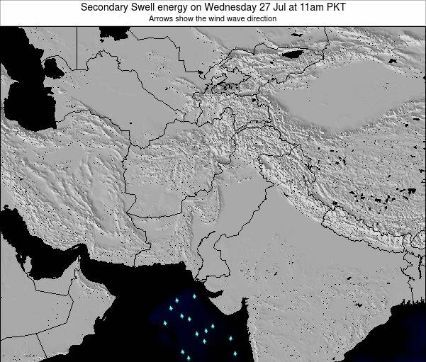 Pakistan Secondary Swell energy on Thursday 24 Apr at 5am PKT