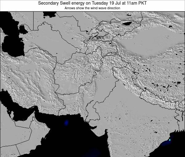 Pakistan Secondary Swell energy on Saturday 26 Apr at 11pm PKT