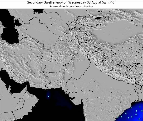 Pakistan Secondary Swell energy on Wednesday 02 Dec at 5am PKT
