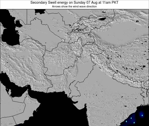 Pakistan Secondary Swell energy on Friday 01 Aug at 11pm PKT