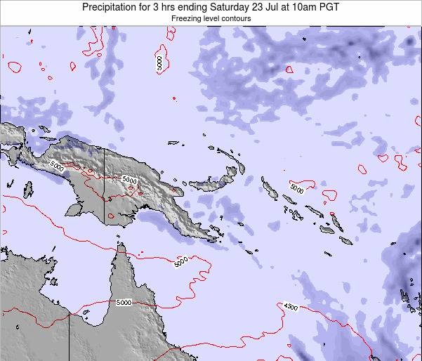 Papua New Guinea Precipitation for 3 hrs ending Monday 27 May at 4am PGT