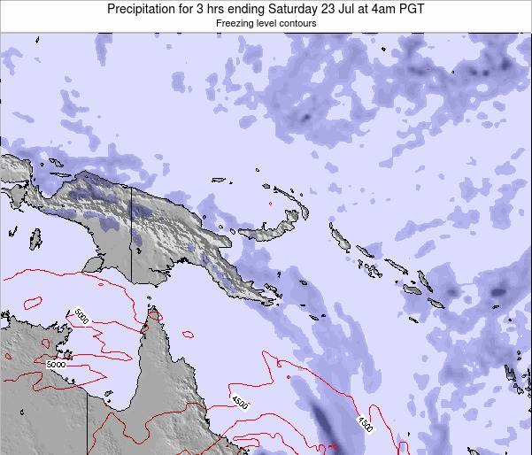 Papua New Guinea Precipitation for 3 hrs ending Sunday 26 May at 4am PGT