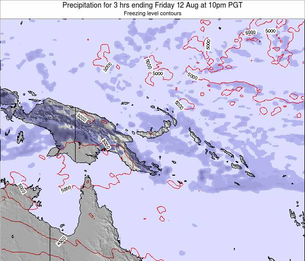 Papua New Guinea Precipitation for 3 hrs ending Wednesday 26 Jun at 4pm PGT