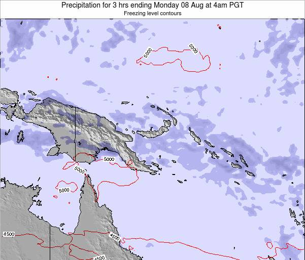 Papua New Guinea Precipitation for 3 hrs ending Saturday 22 Jun at 10am PGT