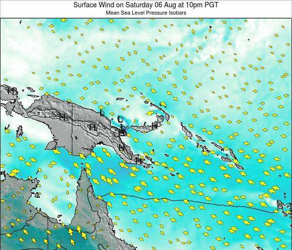 Papua New Guinea Surface Wind on Wednesday 29 May at 10am PGT