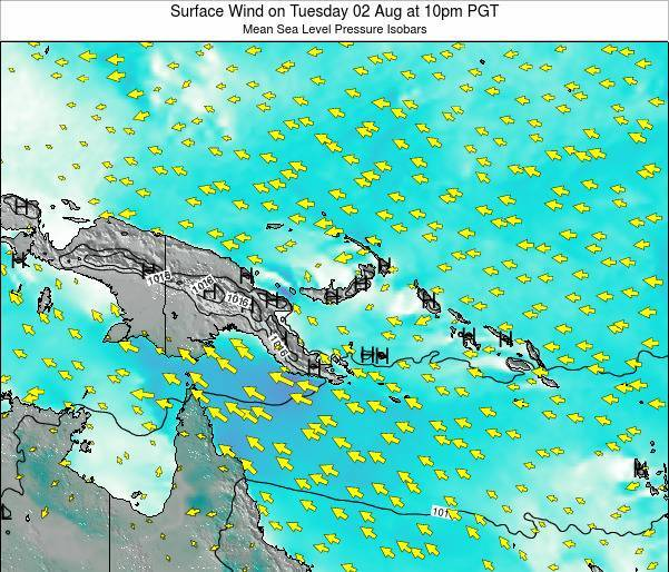 Papua New Guinea Surface Wind on Saturday 25 May at 10am PGT
