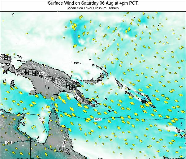 Papua New Guinea Surface Wind on Monday 27 May at 4am PGT