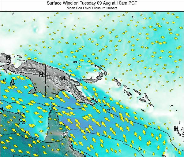 Papua New Guinea Surface Wind on Monday 27 May at 10am PGT