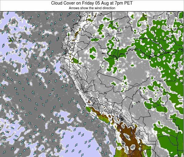 Peru Cloud Cover on Saturday 26 Apr at 1pm PET