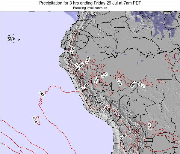 Peru Precipitation for 3 hrs ending Tuesday 10 May at 7am PET
